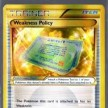 XY5 - Primal Clash - 164 - Weakness Policy - Secret Gold Ultra Rare