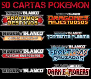 Pack 50 Cartas Pokemon Aleatórias Colecciones Black & White