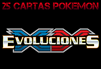 Pack 25 Cartas Pokemon Aleatórias XY12 - Evoluciones
