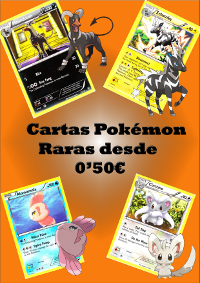 Cartas Pokemon Raras a 50