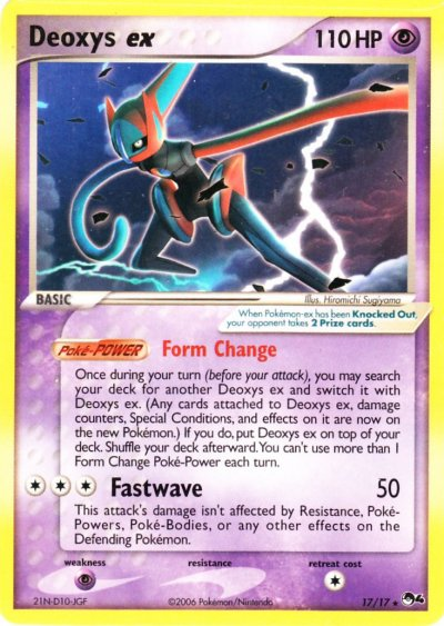 Pop Series 4 - 17 Deoxys ex Speed