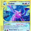 Skyridge - 147 - Crobat Crystal - Secret Ultra Rare - Reverse HoloFoil
