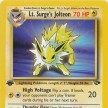 Gym Challenge - 028 - Lt. Surge`s Jolteon - 1st Edition